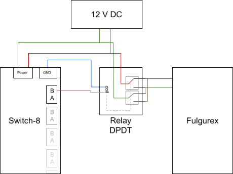 the diagram describes how the relay is to be wired
